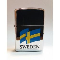 ZIPPO LIGHTER COLLECTION / BANDIERA SVEDESE (SWEDEN FLAG ) 1989 MC42342