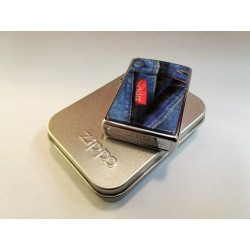RARE ZIPPO LIGHTER COLLECTION / RED TAB DENIM JEANS (K XII 1996) MC42355