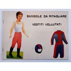 BAMBOLE DA RITAGLIARE VESTITI VELLUTATI - LIBRO GIOCO ANNI '60 - ED. ARCOBALENO