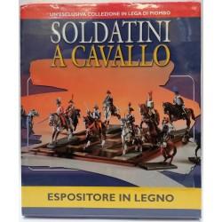 ESPOSITORE IN LEGNO - COLLEZIONE SOLDATINI A CAVALLO - NUOVO SIGILLATO