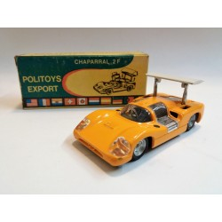 POLITOYS EXPORT N.560 CHAPARRAL 2F (GIALLO / YELLOW) SCALA 1:43 - ORIGINAL BOX