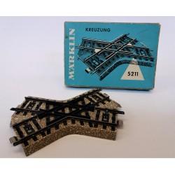 MARKLIN H0 5211 - n.1 BINARIO A INCROCIO / KREUZUNG - ORIGINAL BOX MC42414