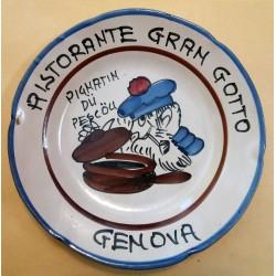 1983 - PIATTO DEL BUON RICORDO - RISTORANTE GRAN GOTTO - GENOVA - MC42387