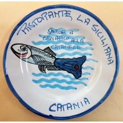 1985 - PIATTO DEL BUON RICORDO - RISTORANTE LA SICILIANA - CATANIA - MC42391