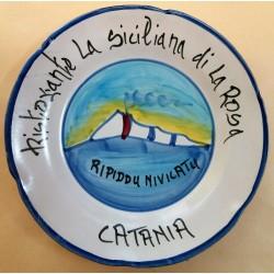 1982 PIATTO DEL BUON RICORDO  RISTORANTE LA SICILIANA DI LA ROSA  CATANIA  MC42392