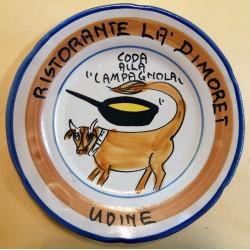1979 - PIATTO DEL BUON RICORDO - RISTORANTE LA' DIMORET - UDINE  MC41399