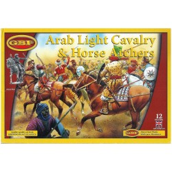 GBP - ARAB HEAVY CAVALRY - 12 FIGURES PLASTIC MINIATURES 28mm (NUOVO) MC41882