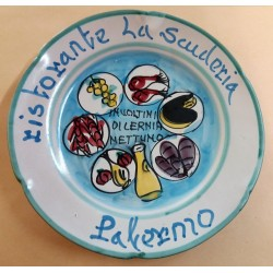 1982 - PIATTO DEL BUON RICORDO - RISTORANTE LA SCUDERIA - PALERMO MC41429