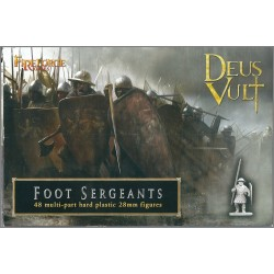 FIRE FORGE GAMES FFG004 - DEUS VULT FOOT SERGEANTS - 48 FIGURES 28mm (NUOVO)