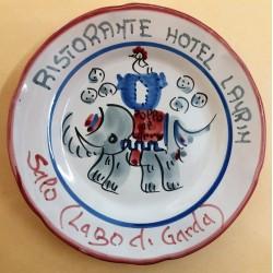 1980 - PIATTO DEL BUON RICORDO - RISTORANTE HOTEL LAURIN - SALO' LAGO DI GARDA MC41431