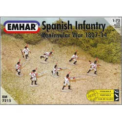 EMHAR EM7215 - SPANISH INFANTRY PENISULAR WAR 1807-14 - MINIATURE SCALA 1:72 - NEW