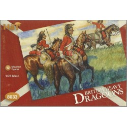 HAT 8033 - BRITISH HEAVY DRAGONS / DRAGONI INGLESI - SCALA 1/72 - MINIATURES 12X