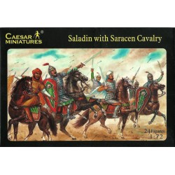 CAESAR MINIATURES - SALADIN WITH SARACEN CAVALRY - 24 FIGURES 1/72 (KIT COMPLETO)