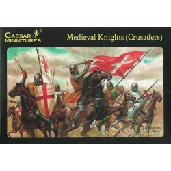 CAESAR MINIATURES - MEDIOEVAL KNIGHTS (CRUSADERS) 24 FIGURES 1/72 (KIT COMPLETO)