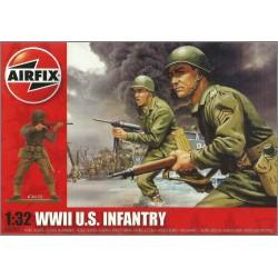 AIRFIX A02703 - WWII U.S. INFANTRY - 14 FIGURES SCALA1/32 (KIT COMPLETO SIGILLATO)