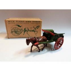 MILK FLOAT AND HORSE LV/605 BRITAINS LILLIPUT WORLD - MINIATURE IN ORIGINAL BOX