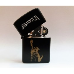 ZIPPO LIGHTER COLLECTION / AMERICA - STATE OF LIBERTY (DARK EDITION) MC42134