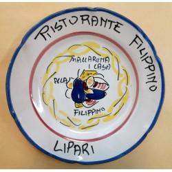 1981 PIATTO DEL BUON RICORDO - RISTORANTE FILIPPINO (LIPARI) MC41444